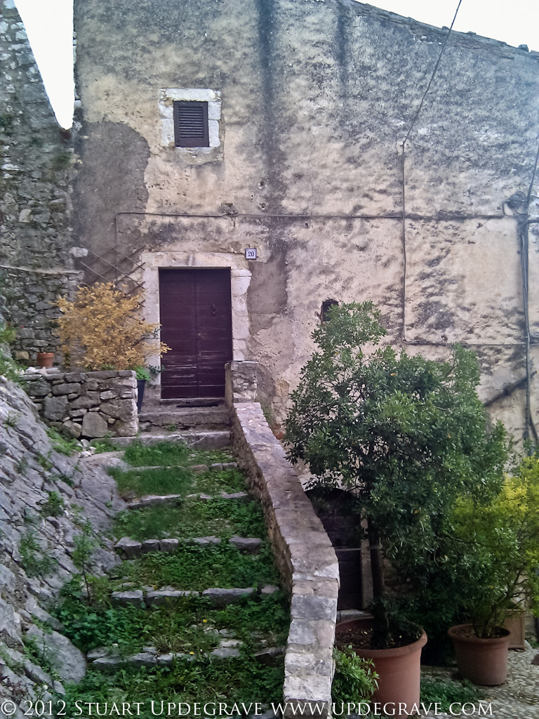 Grassy stairs.