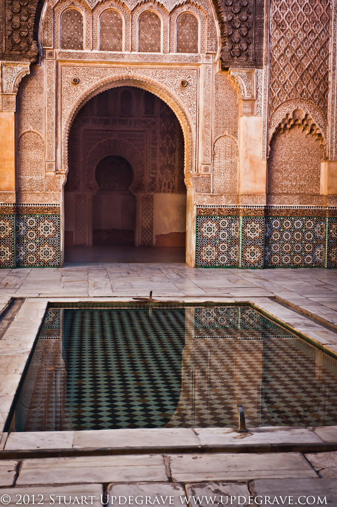 Reflecting pool in the center of the Medersa.