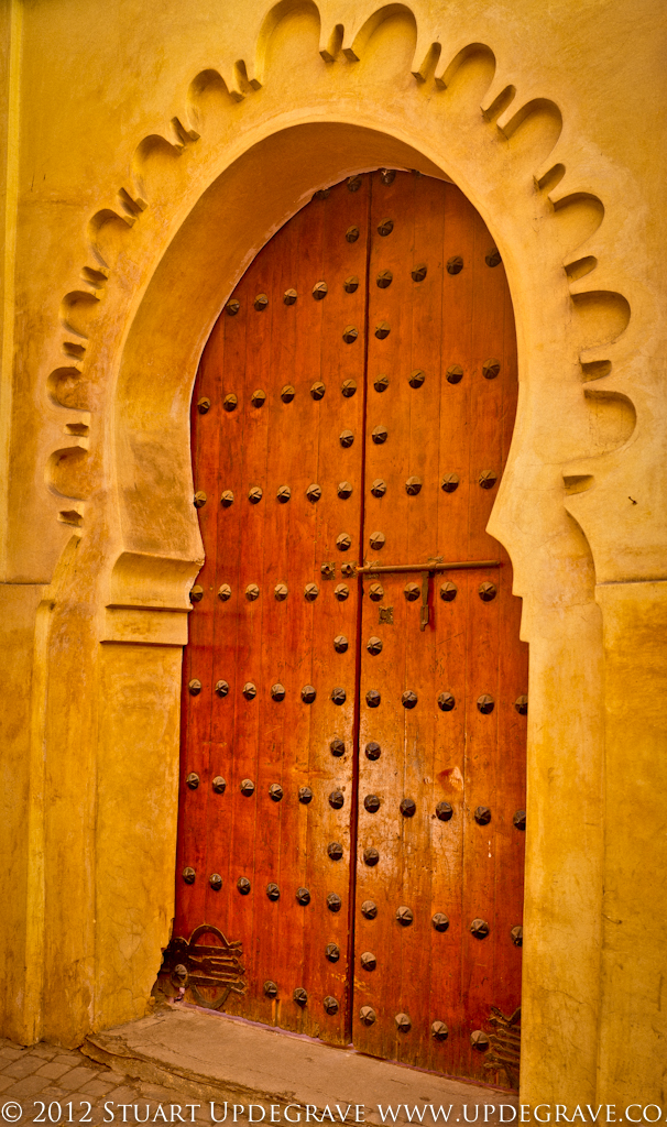 One of many beautiful doorways in the Medina.